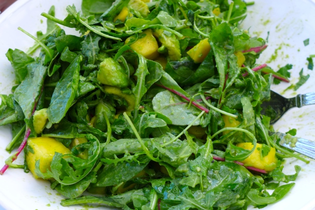passion for lime_ mango and avocado salad