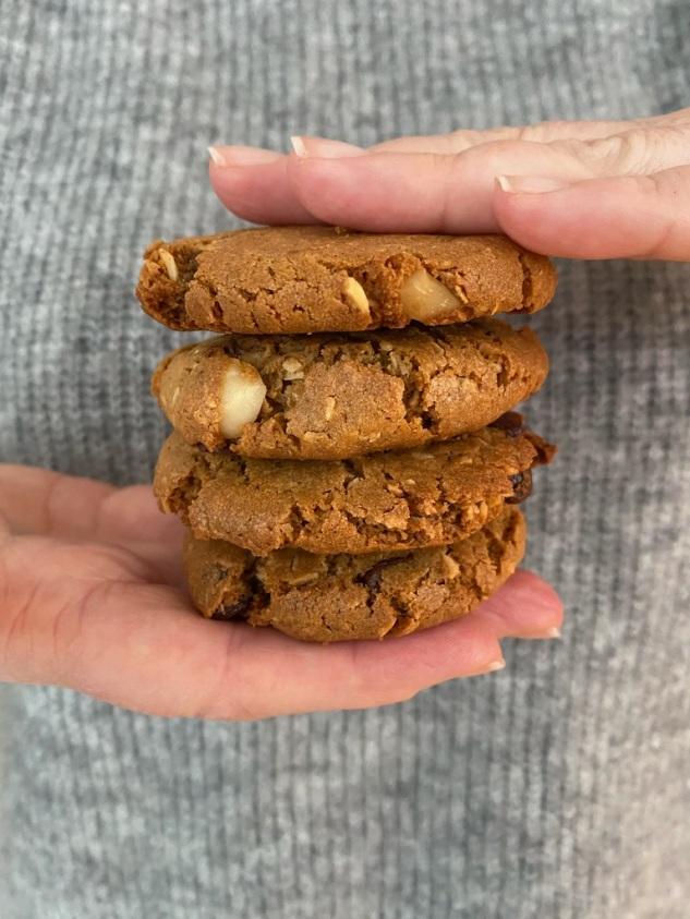 cookies med macademianøtter